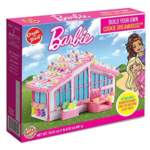 Create A Treat Barbie Dreamhouse Cookie Kit with Candy Cane Icing Decorations
