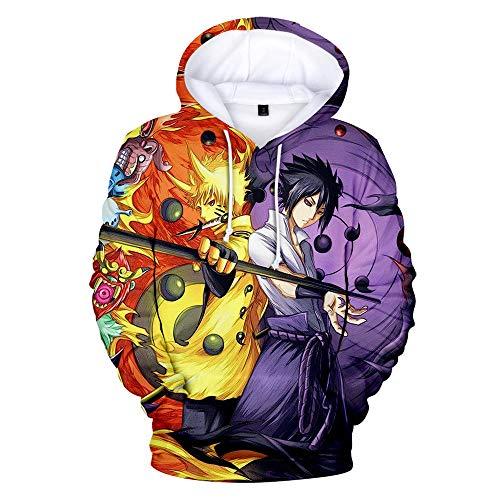 Sudadera con Estampado de Naruto 3D, Sudadera con Capucha del Festival Otoo / Invierno, Abrigo, Sudadera, Disfraz de Naruto Cosplay Amantes del Anime-Estilo K_XS
