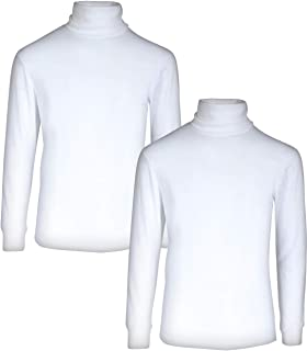 Boy's Basic Long Sleeve Solid Turtleneck (2 Pack)