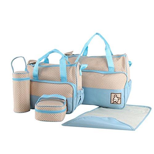 Demarkt Juego de bolso cambiador para bebé, bolso de hospital, bolso de maternidad, bolso de embarazo, color azul claro