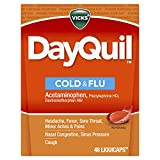 Vicks DayQuil LiquiCaps, Cough, Cold & Flu Relief, Sore Throat, Fever, & Congestion Relief, Non- Drowsy, 48 LiquiCaps