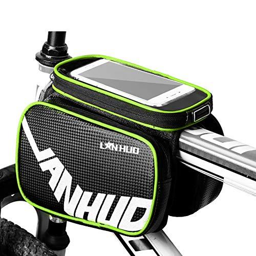 RBB-Bike Fietstas voor voorwiel, universele buis voor fietssturen met houder voor mobiele telefoon zoals iPhone, Galaxy, Huaw