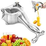 Manual Juicer, ENLOY Stainless Steel Heavy Duty Lemon Orange Squeezer, Easy Use Hand Press Fruit Juicer Citrus Extractor Tool