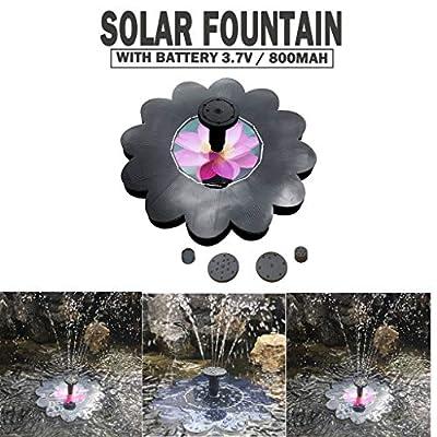 YUTK Solar Bird Bath Fountain, Solar Powered Fountain Free Standing Floating Birdbath Water Pumps for Garden, Patio, Pond and Pool,Aquarium