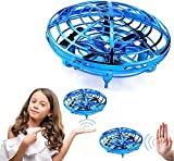 NOXEW Hand Operated Drones for Kids or Adults - Easy Indoor Small UFO Toy Flying Mini Drones with 360° Rotating Hands Free Motion Sensor Drone Gifts for 3-12Years
