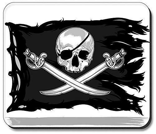 Hokdny Alfombrilla Art Plates Bandera Pirata