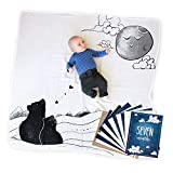 JumpOff Jo Baby Blanket and Milestone Cards Bundle, to The Moon