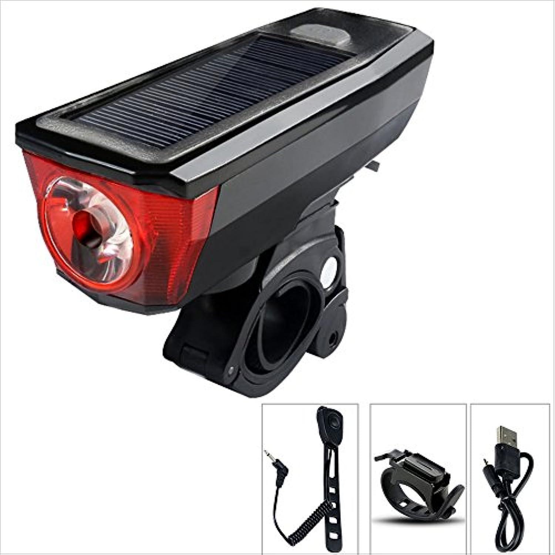 MUTANG Solar Bicycle Lights Rechargeable Waterproof Night Ride Searchlight Mountain Bike Flashlight Riding Equipment