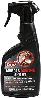 Kemo Z100 Marder Abwehrspray. 500 ml hochwirksames, hitzebeständiges Konzentrat in Pumpflasche. Wirkstoff Geraniol. Entspricht ca. 1,3 Liter unkonzentriert