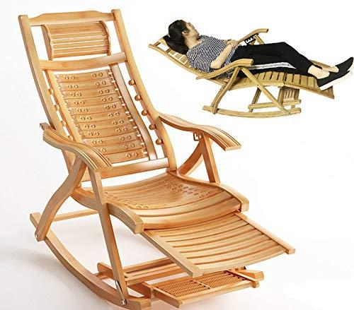 Garten Liege Hochlehner,Relaxliege mit Armlehnen, Lehne 5-Fach verstellbar(170 Grad) Schaukelstuhl,Gartenmöbel aus Holz Sonnenliege