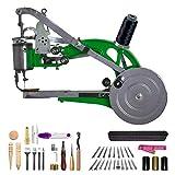 DCHOUSE Máquina de coser Cobbler, máquina de reparación de zapatos Dual Cotton Nylon Line