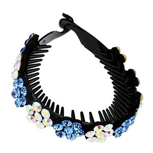 Mesdames Elegant Rhinestones Hair Bun Décor Ponytail Clip Hair Accessories, No.11