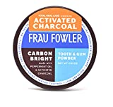 Frau Fowler CARBON BRIGHT Tooth Powder Activated Charcoal - Teeth Whitening, Remineralizing, Sensitive-Teeth, 2 oz / 6+ Week Supply