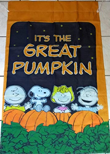 Charlie Brown Great Pumpkin Halloween 28x40 in. House Flag Double Sided