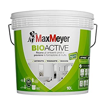 Foto di MaxMeyer Pittura per interni antimuffa Bioactive BIANCO 10 L,12-14 mq/litro