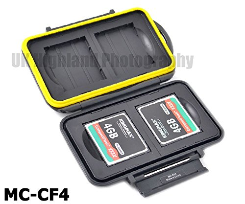 Kaavie - multi custodia contenitore impermeabile in plastica rigida per schede: CompactFlash x 4 - Multi Card Case Safe