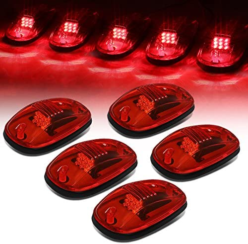 Replacement for Dodge Ram 1500 2500 3500 4500 5500 Red Lens LED Truck Cab Roof Top Marker Running product image