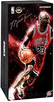 Enterbay NBA Masterpiece Michael Jordan Collectible Figure #23 [Red Uniform Road Edition]
