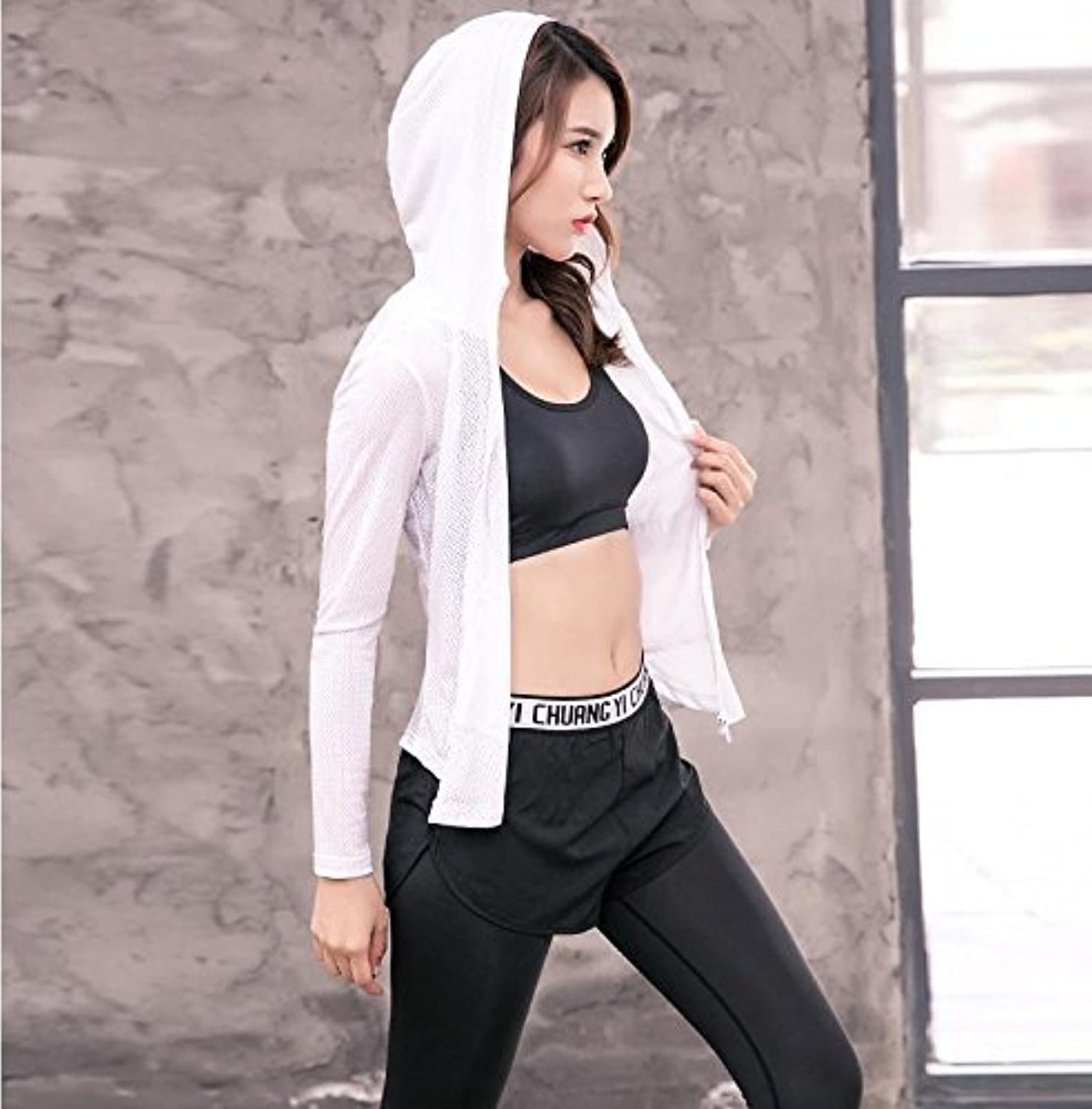 DACHUI Yoga Clothing Women Sports Fitness 3it Set Gym Sports Tank Top & Yoga Trousers Contribute