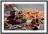 Picati Dunkle Schokoladenraspeln Bilderrahmen mit