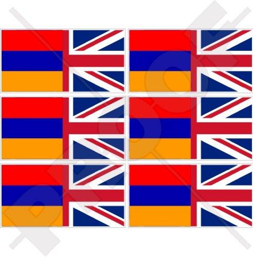 USA Verenigde Staten van Amerika & ARMENIA vlag, Amerikaanse & Armeense 40mm (1.6