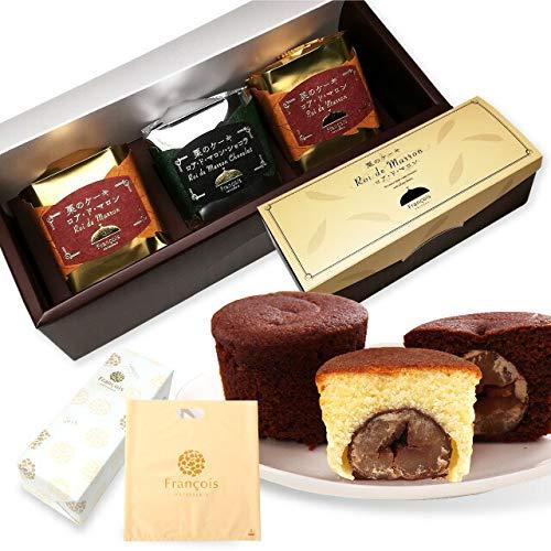 大粒栗のマロンケーキ ロアドマロン 3個入 手提げ袋付き お菓子 ギフト 詰め合わせ 個包装