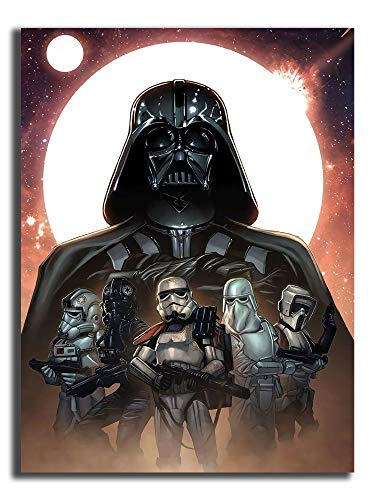 Coobal 3D Paintings Star Wars Poster, Star Wars Artwork Vertical Art Paintings for Home Decor 16'x24'