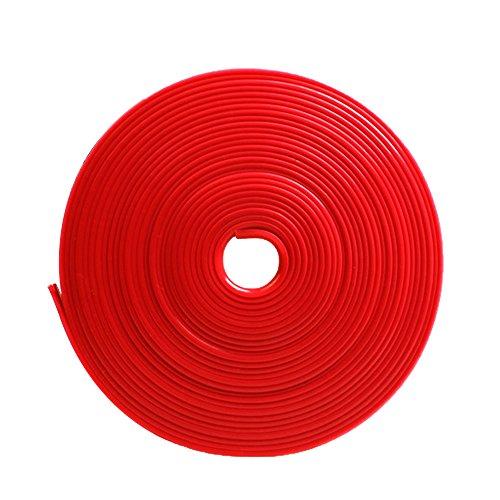 Vococal 8m 26ft Länge Universelle Stil Auto Felgenband Radnabe Kante Ring Selbstklebende Protektoren-Band Felgenrandaufkleber, Rot