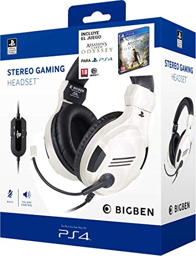 Pack Assassins Creed Odyssey + Auriculares PS4 Headset v3 Blanco  (Edición exclusiva Amazon)