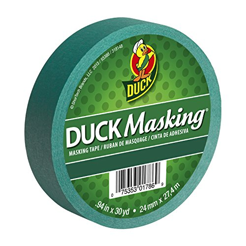 Cinta de enmascarar Duck 240818, de 0.94 pulgadas x 30 yardas, de color rojo, 240877