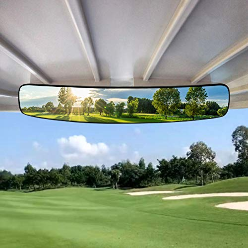 WPCUS Golf Cart Mirror, 180 Degree Rear View adjustable Side Mirrors Universal Fit for Club Car, Ezgo, Yamaha, Star...