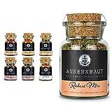 Ankerkraut Grill Set, 6 Gewürze für Männer! & Rührei Gewürz, 80g im Korkenglas, Gewürzmischung fürs Ei