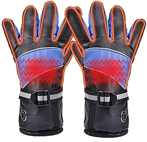 klkkjh Guantes térmicos eléctricos 7.4V 3000MAH Pantalla táctil Impermeable Recargable Guantes cálidos de Invierno para Motocicleta de esquí al Aire Libre con 3 temperaturas Ajustables