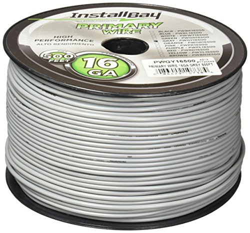 Install Bay PWGY16500 Primary Wire 16 Gauge - Grey (500 Feet)