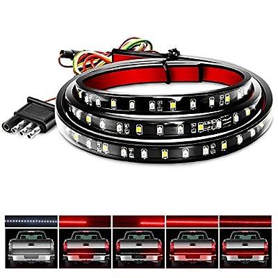 """Nilight 48""""/49"""" LED Tailgate Light Strip 90 LED Red/White for Running Light Brake Light Turn Signal Lights Reverse Light?2 Years Warranty, 48""""/49"""" Truck Tailgate Light Bar"""
