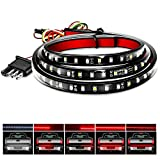 "Nilight - TR-11 48""/49"" LED Tailgate Light Strip 90 LED Red/White for Running Light Brake Light Turn Signal Lights Reverse Light,2 Years Warranty, 48'/49' Truck Tailgate Light Bar"