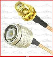 FENGYI KEJI 10PCS SMA female jack TO TNC male plug bulkhead 15cm RG316 cable jumper pigtail