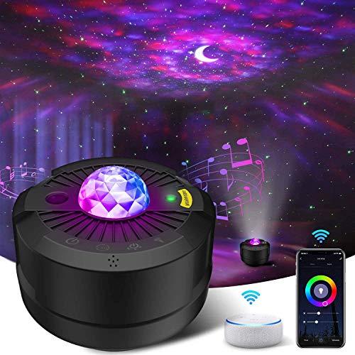 Sternenhimmel Projektor, LED Sternenlicht Projektor Smart APP Arbeiten Sie mit Alexa Google Home Galaxy Cove Projektor Galaxy Projektor für Schlafzimmer, Decke, Erwachsene Kinder Geschenk