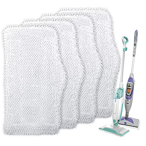 F Flammi Steam Mop Replacement Pad for Shark SK410, SK435CO, SK460, SK140, SK141, S3101, S3250, S3251, S1000 Series Steam Mop Pads (4 Pack)