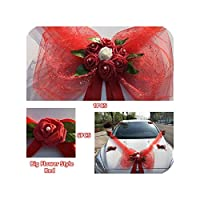 右店造花車ウェディングデコレーションキットロマンチックなフェイクローズフラワーバレンタインデーパーティーフェスティバルデコレーションサプライ、カップルベアスタイル