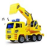 Nuheby Scavatrice Escavatore Camion Macchinine Giocattolo per Bambini,Camion Costruzione per Bambini Regalo Ragazza Ragazzo 3 4 5 Anni