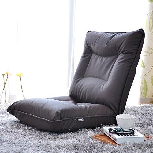 Chaise pliante Fauteuils inclinables Tatami Canapé Simple Paresseux Dossier réglable Confortable Peut Lire Regarder la télévision ou Jouer à des Jeux adapté à la Maison ou au Bureau (Color : Black)