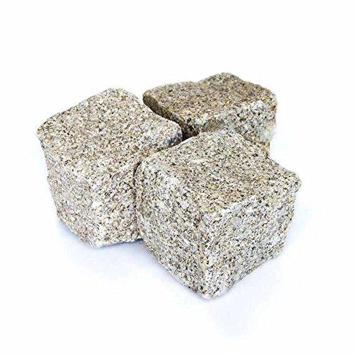 Kopfsteinpflaster Granit Gelb, Granitpflaster gelb, Pflastersteine Granit gelb, in 1000kg Big Bag oder Holzkiste