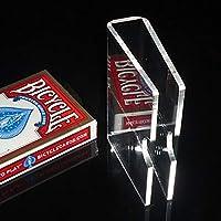 【手品 マジック】クリスタルカードクリップ カードガード トランプマジックアクセサリー 保護用 デックケース 手品道具 (厚み3mm)