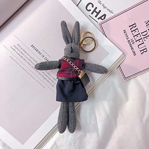 Y-M-H Conejo Creativo Llavero de Moda Mochila muñeca muñeca Bolso Lindo Colgante 15 cm (Color : C)