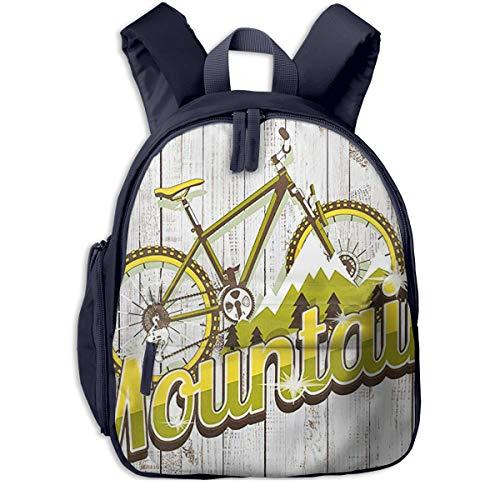 Kinderrucksack Funky Mountainbike, Schulrucksack für Mädchen und Jungen Schultasche Schulranzen Teenager Backpack Daypack Freizeitrucksack Kinder Rucksack