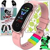 TRENDY PRO Kids Fitness Tracker Gold Watch for Kids - Temperature Oxygen HR