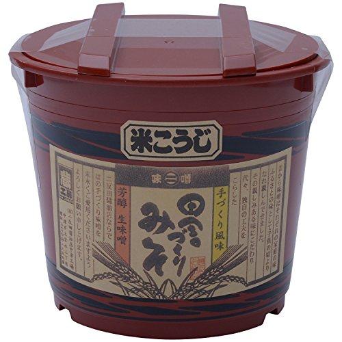 二反田醤油 田舎づくり味噌米こうじ 朱樽入り 2kg