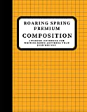 ROARING SPRING PREMIUM COMPOSITION: Notebook Grid Paper Notebook, Quad Ruled, (Large, size)