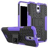 Funda Firmness Smartphone Funda Carcasa Case Cover Caso con Kickstand para Alcatel Pixi 4 6.0 Inch 3G 8050D(Púrpura)